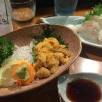 青森駅前で海鮮居酒屋のオススメはココ! 透き通る甘いホタテとウニに田酒が合う合う